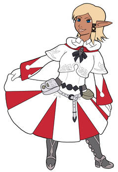 Ariannas enjoying FFXIV's white mage armour-Flats