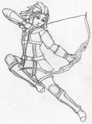 Aria Snowdrop in Ranger Artifact Armour by Nefa-Aria