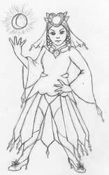 Mega Diancie themed Magical Girl by Nefa-Aria