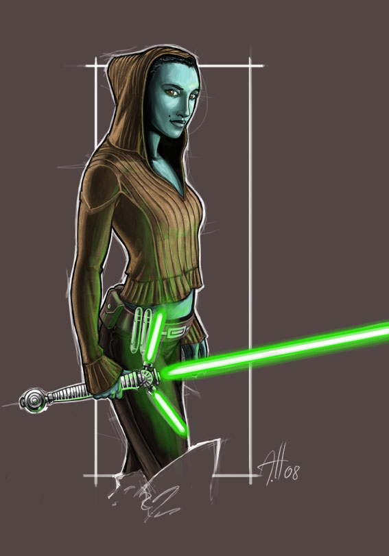 star wars, jedi babe by deralbi