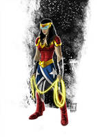 Wonder Woman in Space by deralbi