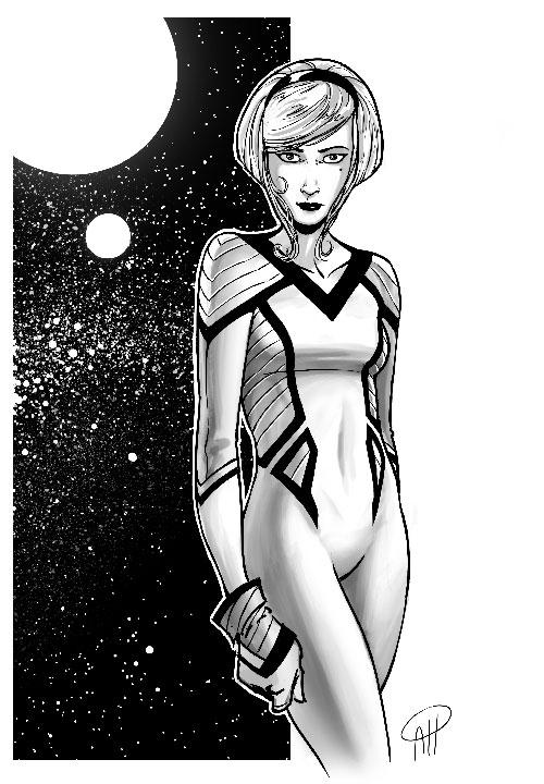 Spacegirl stuff again by deralbi