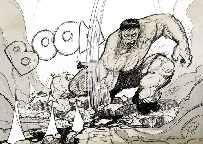 hulk f****** smash by deralbi