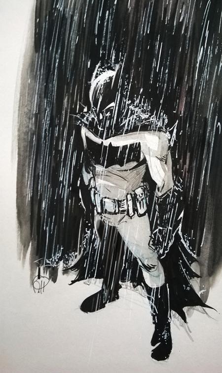 Bat in the Rain by deralbi