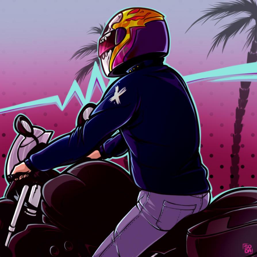 Neon Rider by laia-flo...