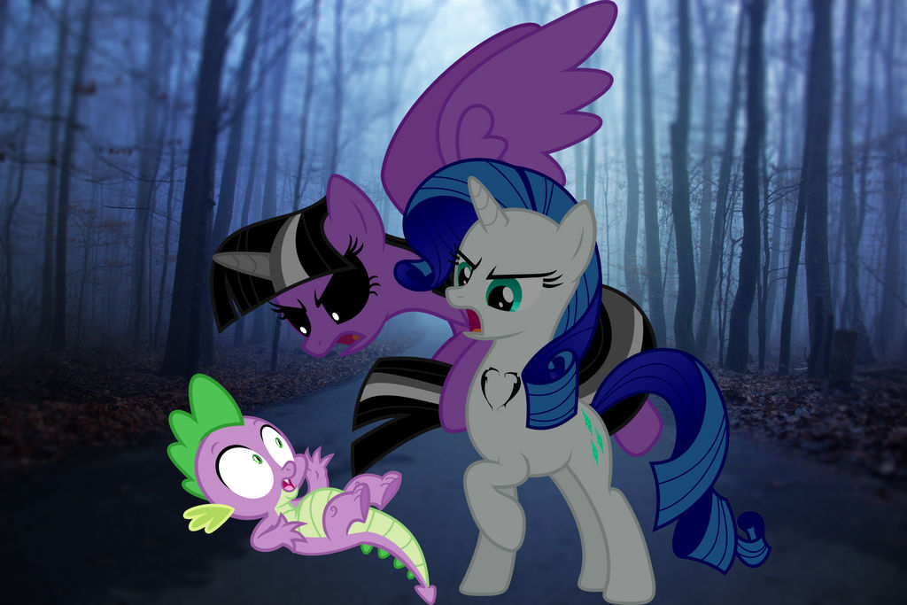 LIL MISS RARITY AND INSANE TWILIGHT ANGRY AT SPIKE