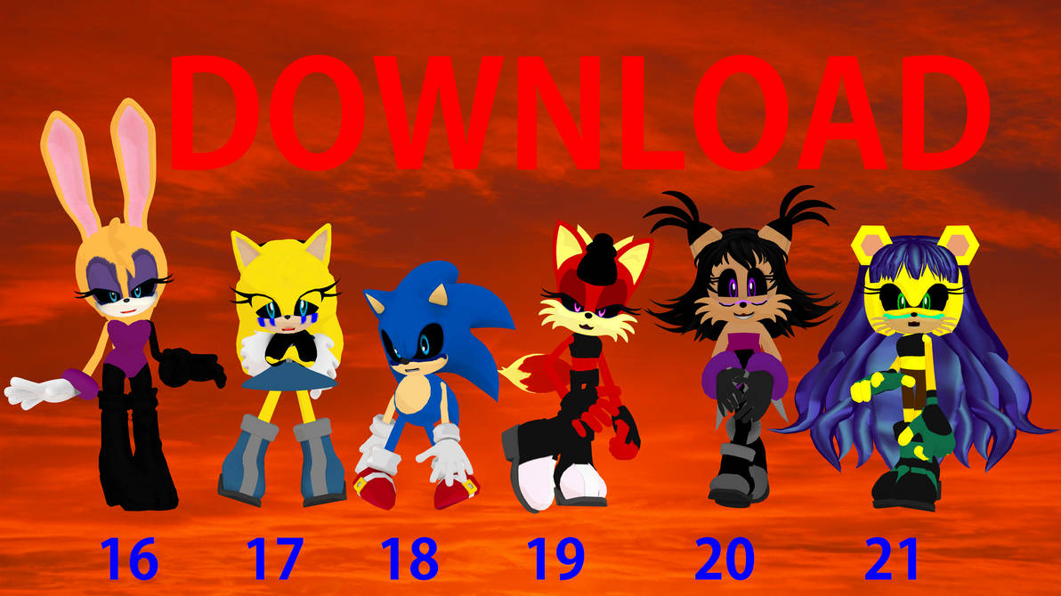 Other SONIC EXE Characters Models Download MMD 2 by waleedtariqmmd
