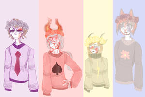 flower crowns + beat up babes + sweaters