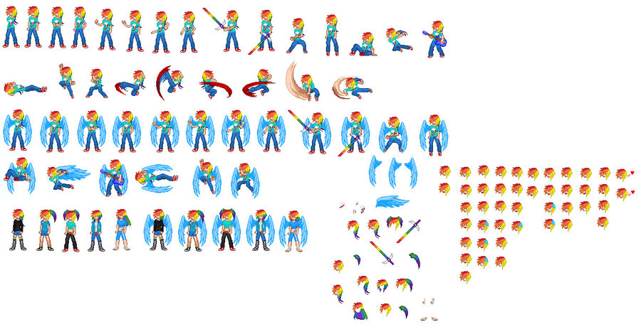 Rainbow Dash as a Human in Real Life Human Rainbow Dash Sprites by