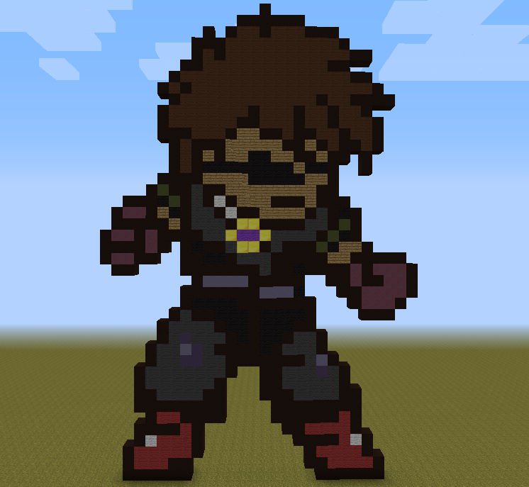 SkyDoesMinecraft Pixel Art by Fireblade804