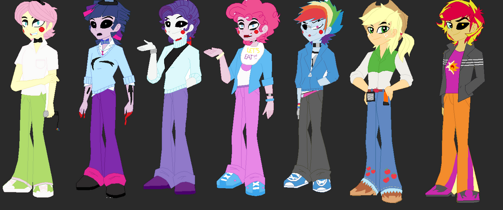 Fnaf 2 characters by deadrose57 on deviantart