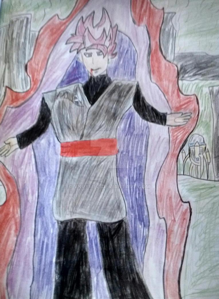 Goku black super saiyan rose fan art by vKrymez