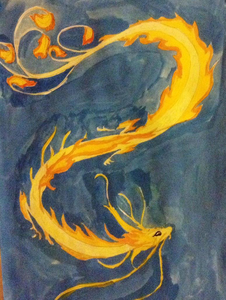 Light dragon by Petitmonstremagique