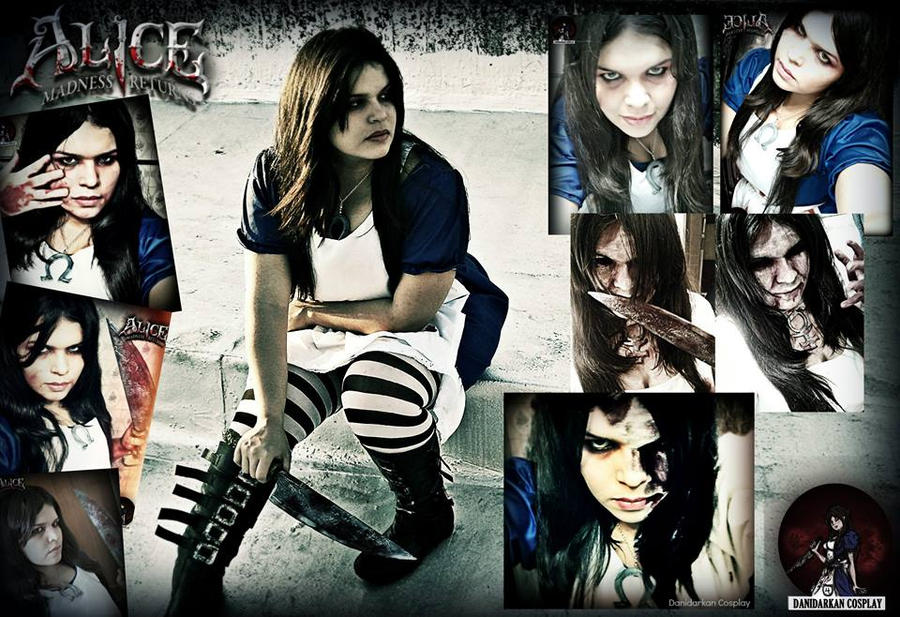 Just  A Collage *Alice Madness Cosplay* by danidarkan