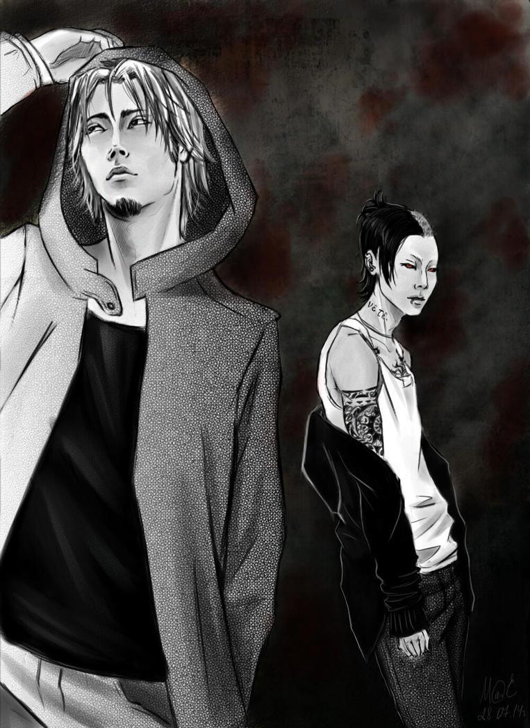 Yomo and Uta by Elhele