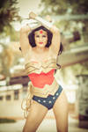 Wonder Woman Cosplay Classic Suit Photo Shoot