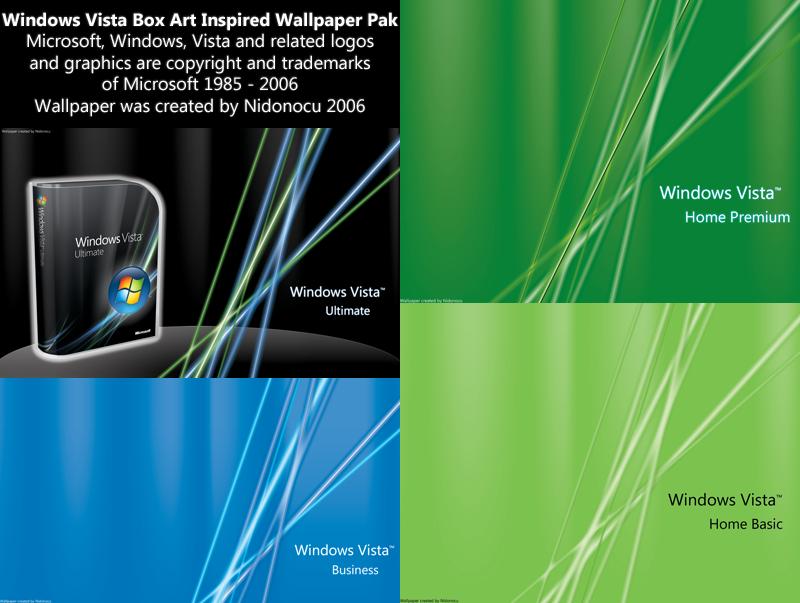 Windows Vista Box Art Pak By Nidonocu