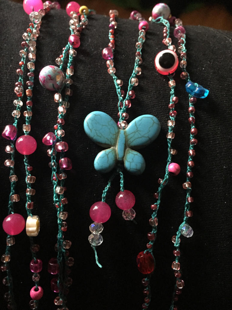 Crocheted Necklace by MindfullyArtistic