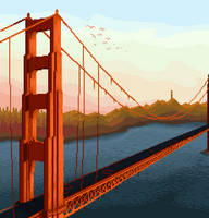 Golden Gate Bridge by Tioluko