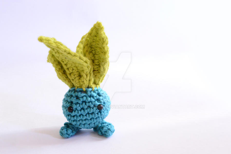 Crochet Baby Oddish Pokemon Doll by Rienei on DeviantArt