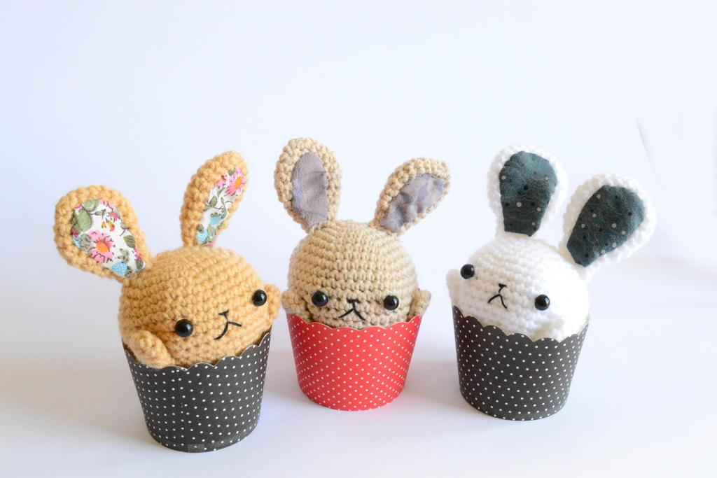 Amigurumi Cupcake Bunny Containers (Etsy Store) by Rienei ...