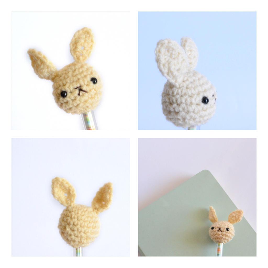 Etsy Amigurumi Bunny : Amigurumi Bunny pen/pencil top (Etsy store) by Rienei on ...