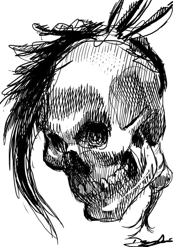 Mohawk Skull by Deingeist on DeviantArt