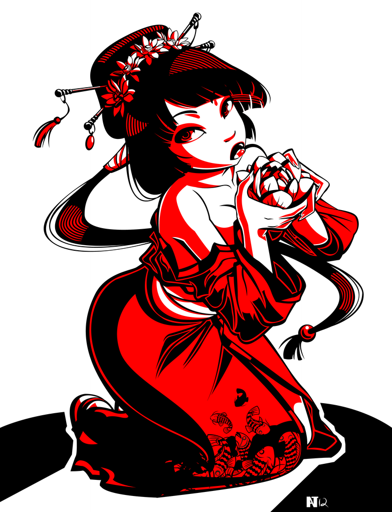 Geisha tattoo 2 by gusana on deviantart - Tattoos geishas japonesas ...