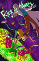 Rick and Morty fanart by Gusana