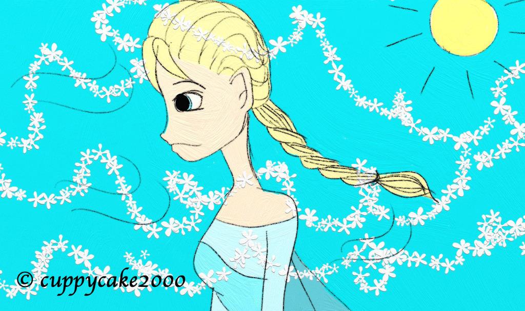 Elsa's Summer Breeze by cuppycake2000