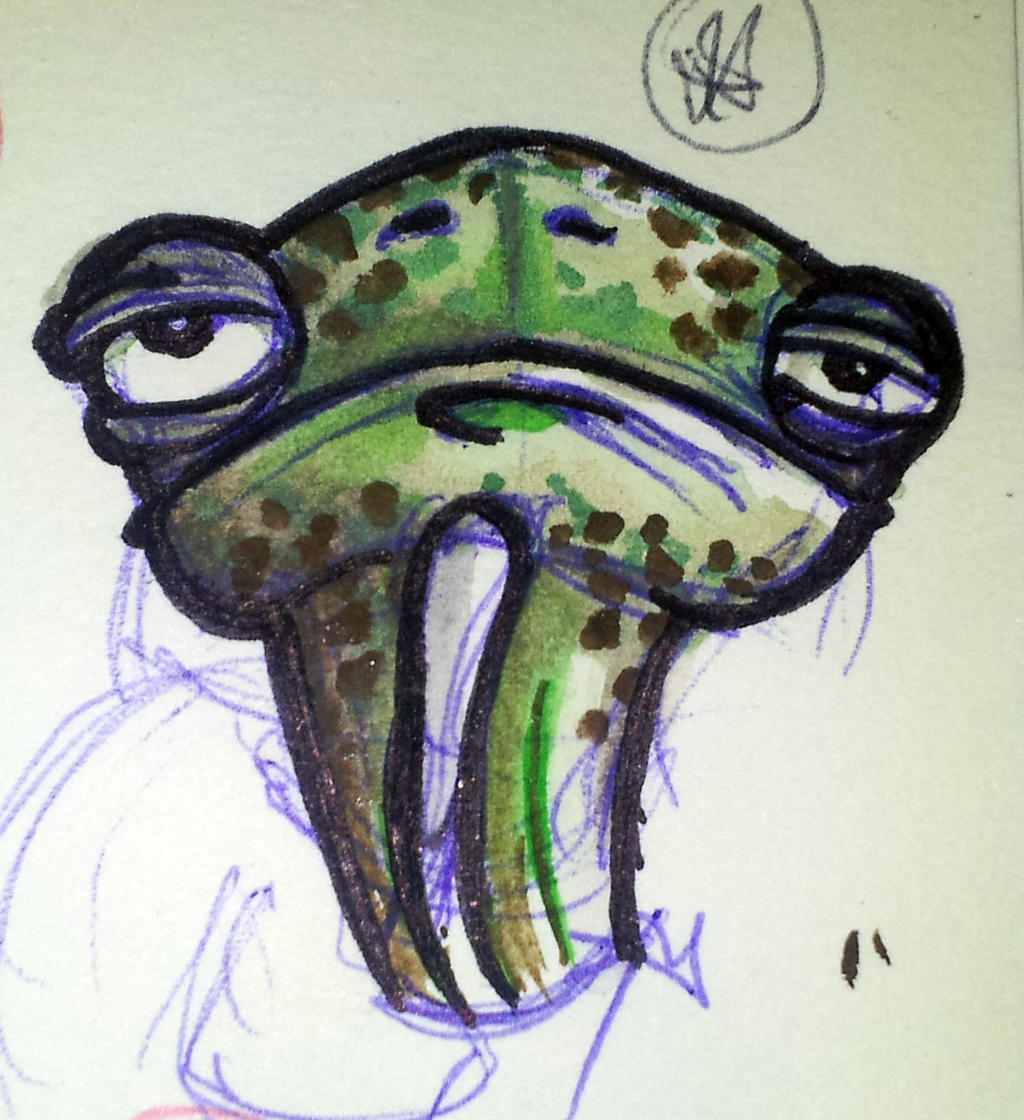 Sketch water color during the break between classe by BrainBlueArts