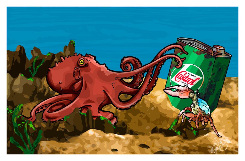 Sea Battle by BrainBlueArts