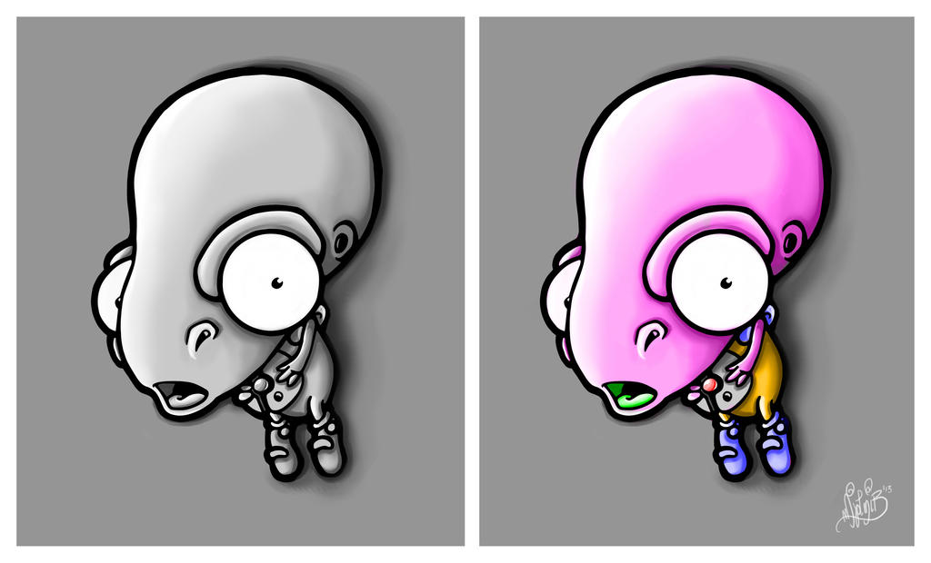 Alien Peanut by BrainBlueArts
