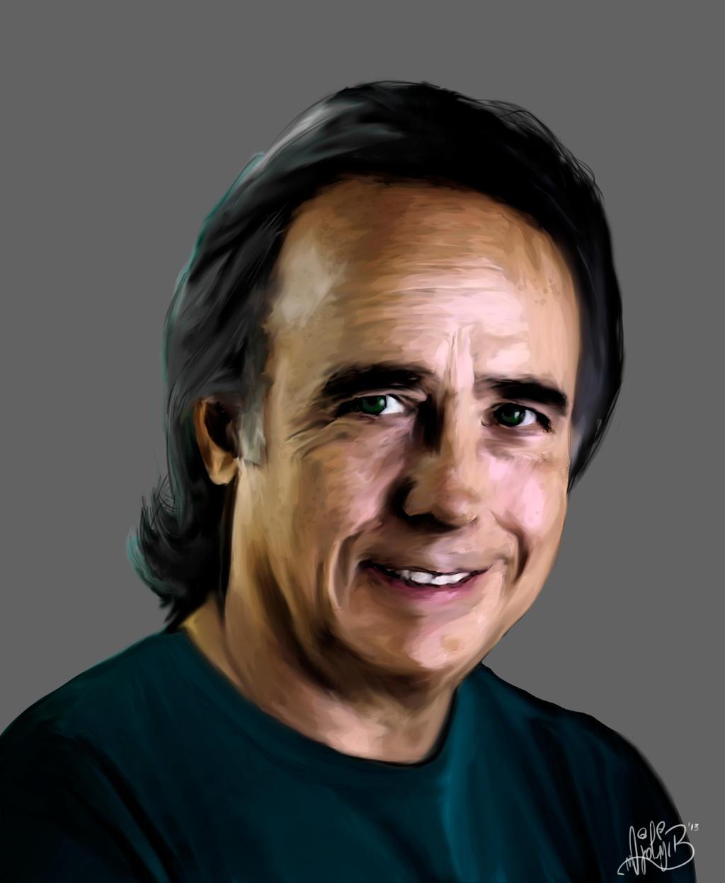 Portrait Joan Manuel Serrat by BrainBlueArts