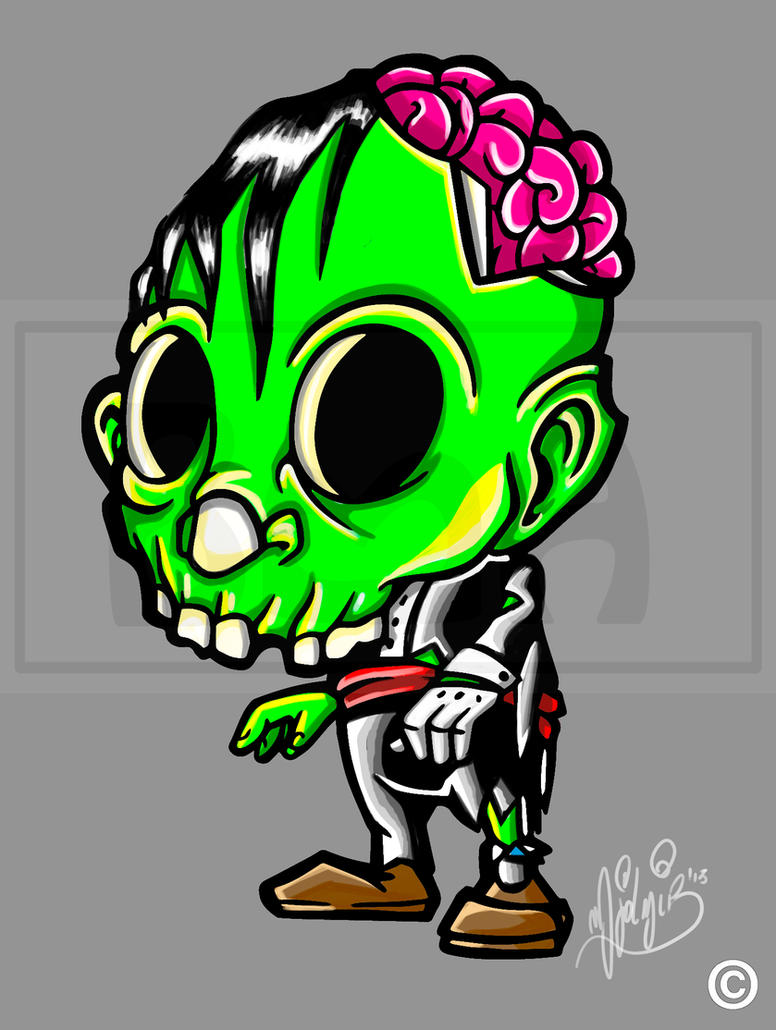 Zombie by BrainBlueArts