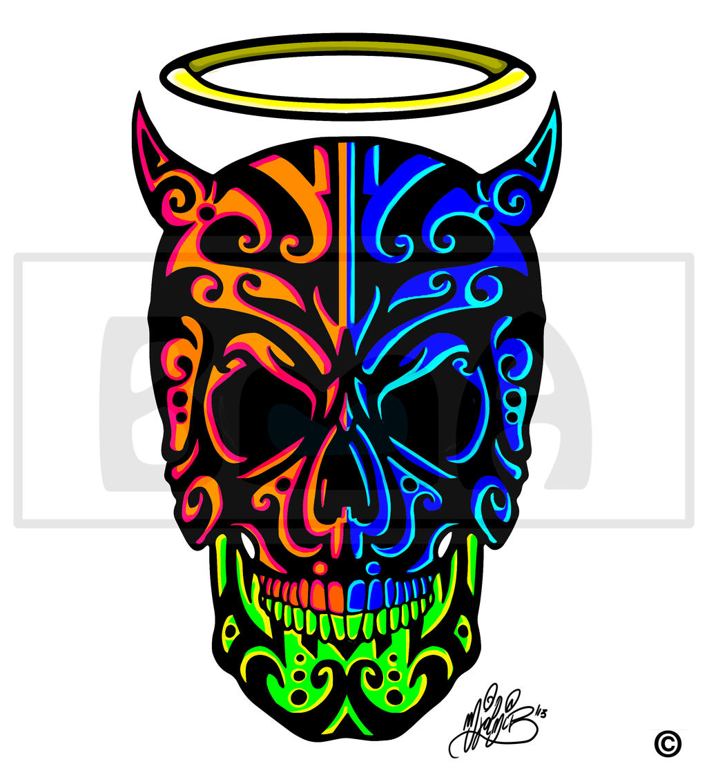 Nefilim skull by BrainBlueArts