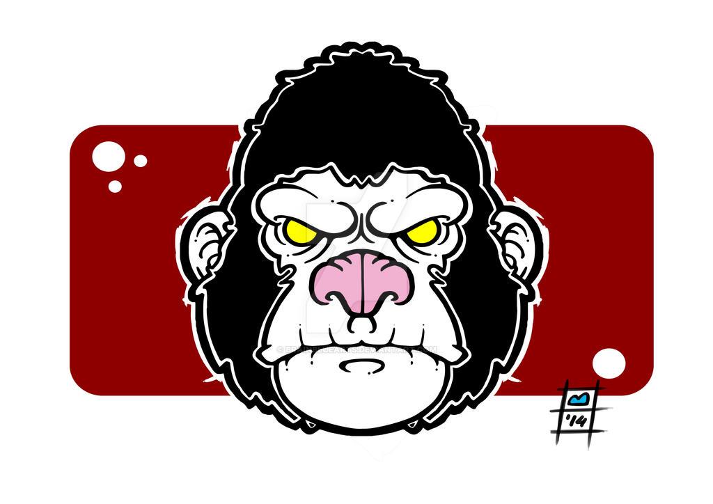 gorilla by BrainBlueArts