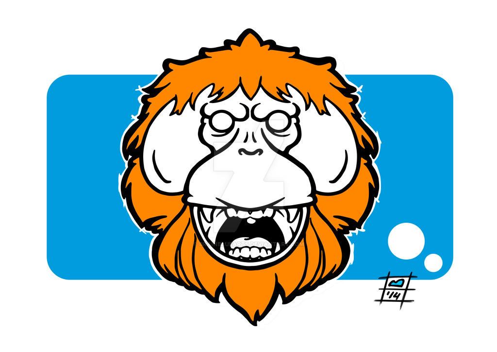 Orangutan by BrainBlueArts