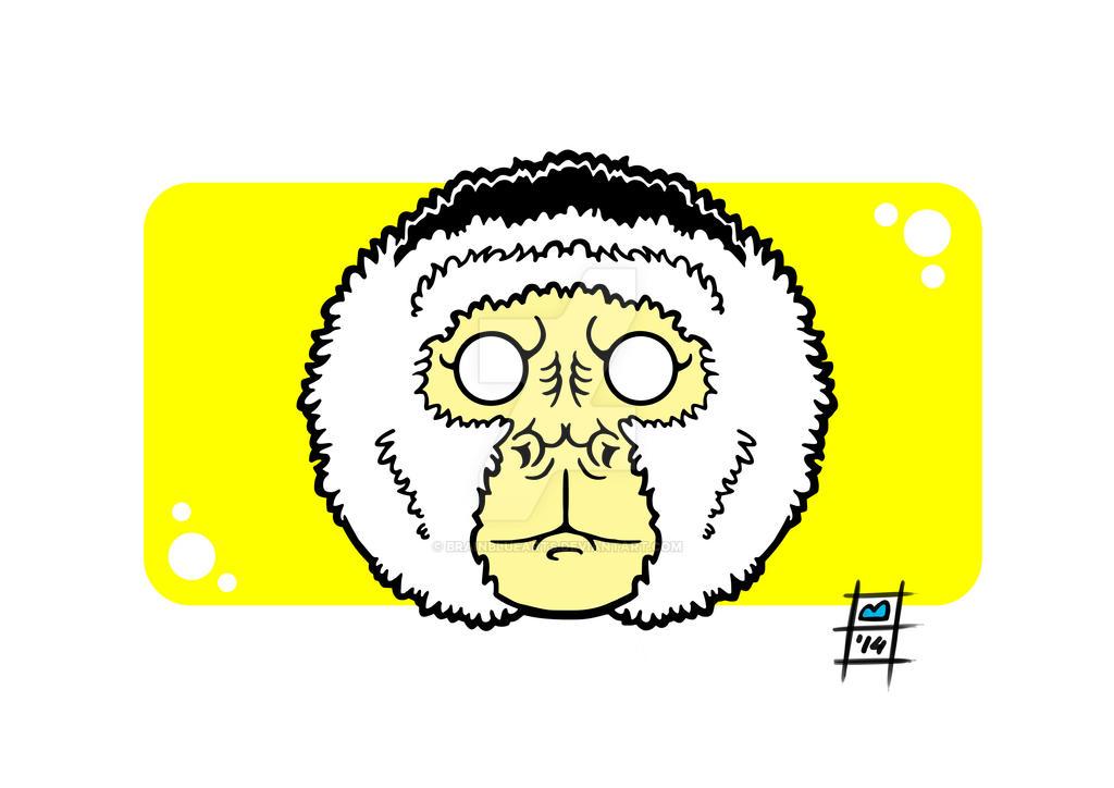 Capuchin Monkey by BrainBlueArts