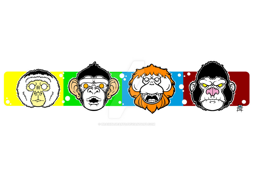 Planet ape by BrainBlueArts