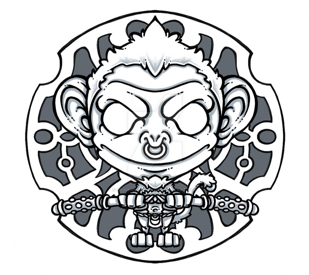 Monkey god by BrainBlueArts