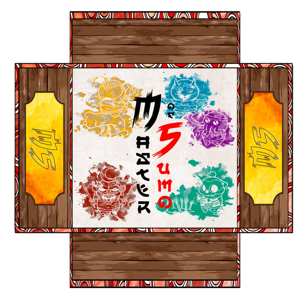 Master of Sumo BoardGame Box by BrainBlueArts