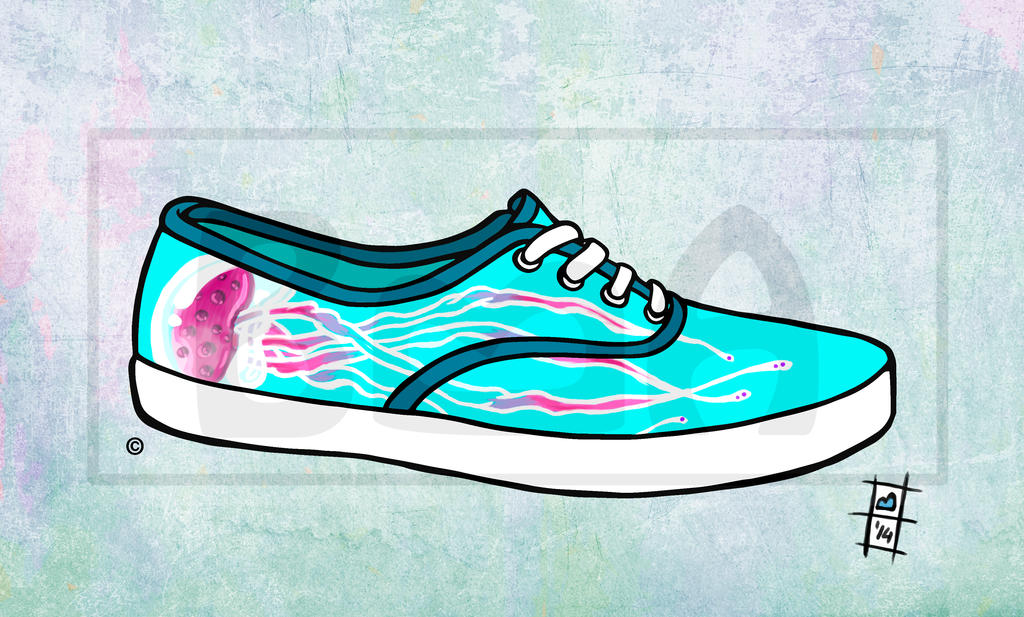 Shoes for summer jellyfish by BrainBlueArts