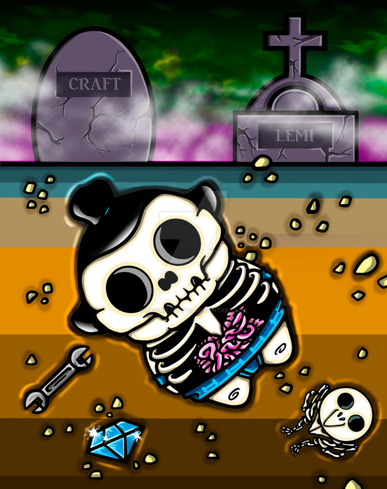 Skeleton (ilustration cards Master of Sumo) by BrainBlueArts
