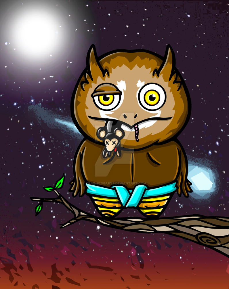 Owl ( Master of Sumo card) by BrainBlueArts