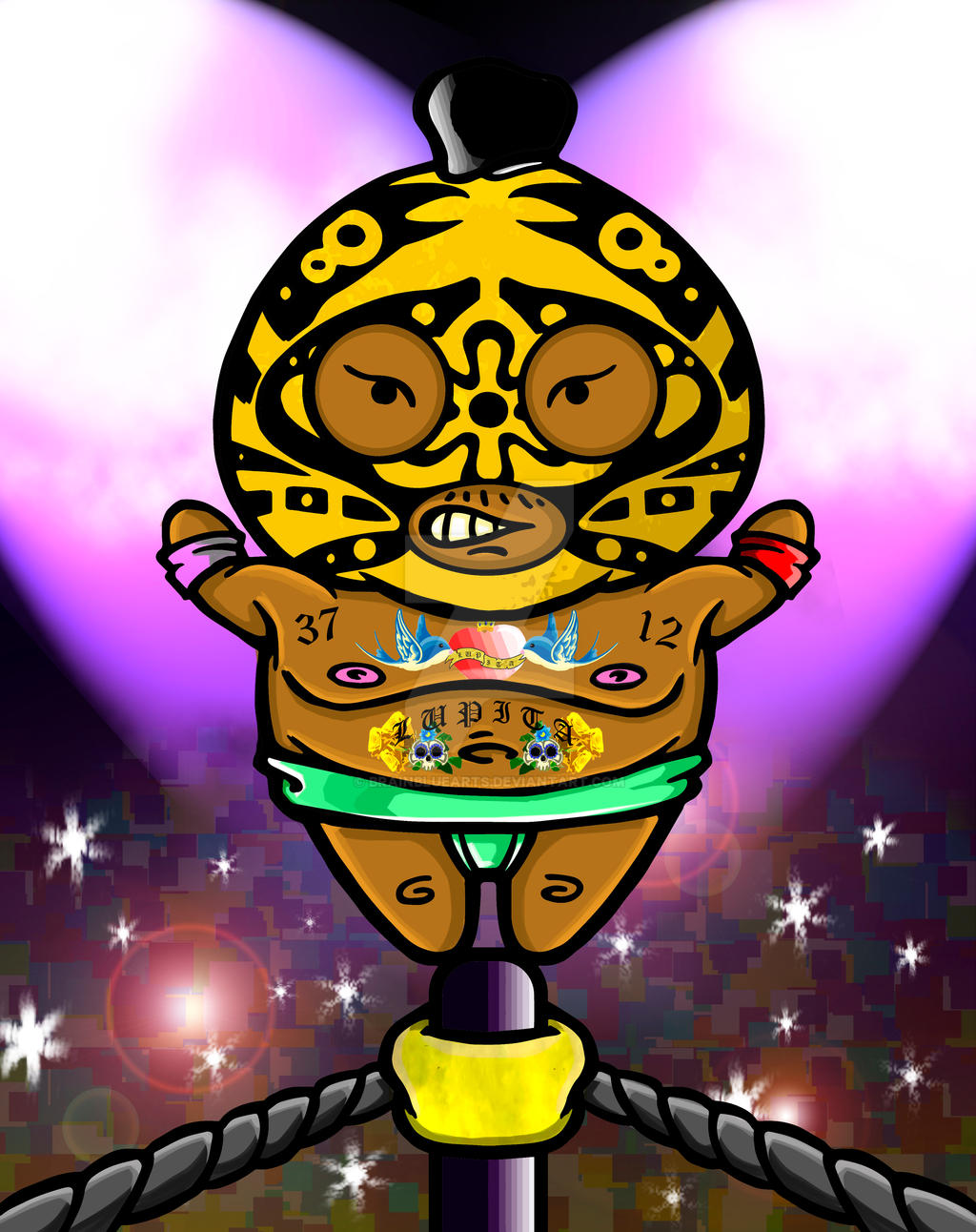 Mexican ( Ilustration for Master of Sumo) by BrainBlueArts