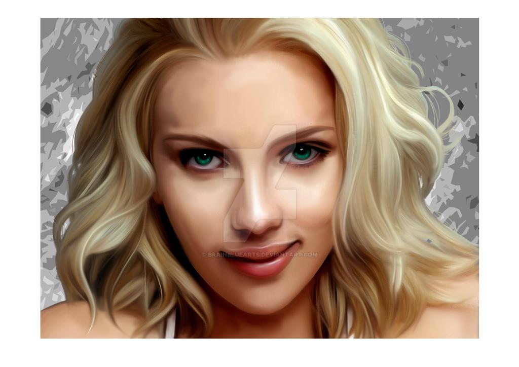 Scarlett Johansson by BrainBlueArts