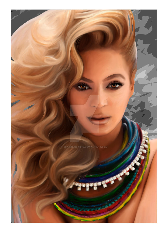 Beyonce portrait by BrainBlueArts