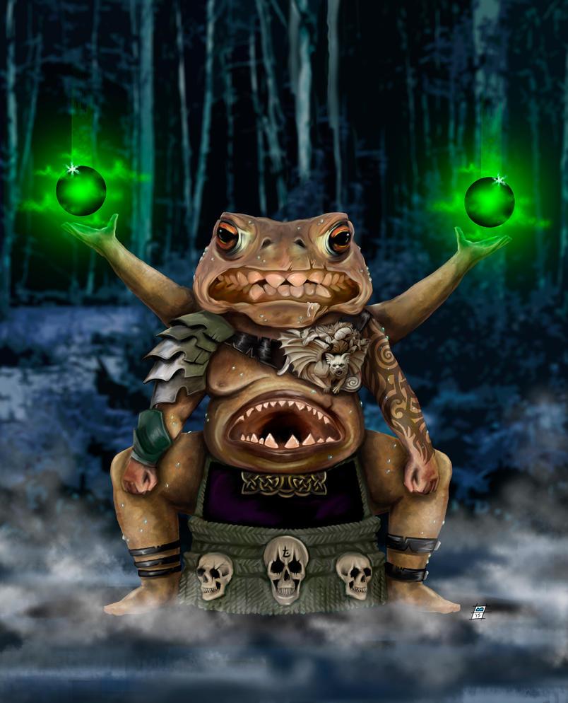 Warlock of the Swamp by BrainBlueArts