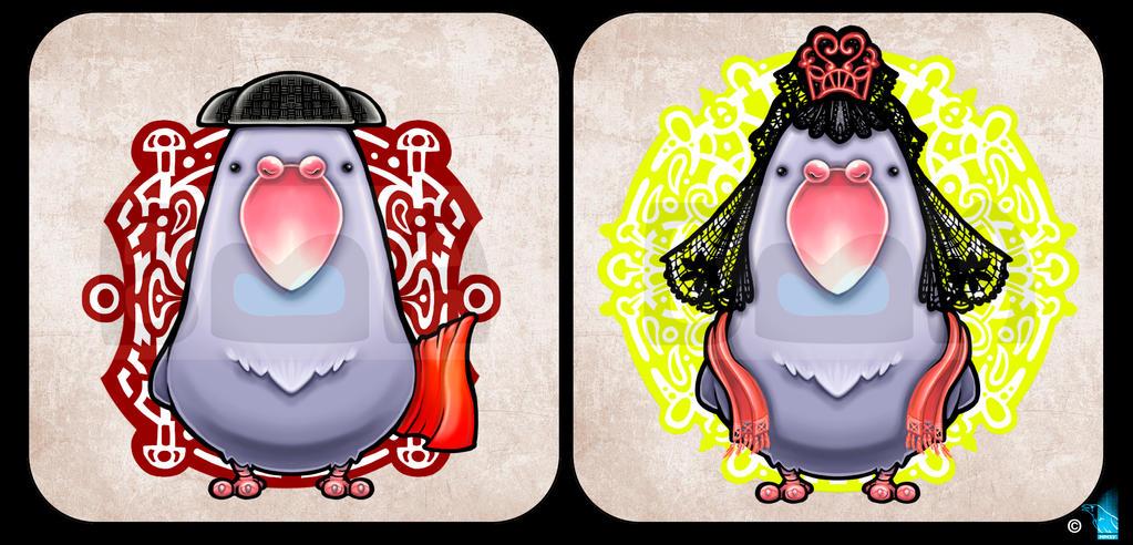 Street wise Pigeon by BrainBlueArts